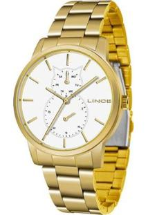 Relógio Lince Feminino Fashion Analógico Dourado Lmgj086L-B1Kx - Feminino-Dourado