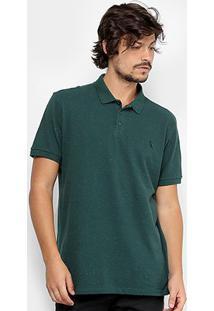 Camisa Polo Reserva Piquet Botonê Fantasia Masculina - Masculino-Verde