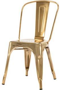 Cadeira Iron Espelhada Dourado - 50077 - Sun House