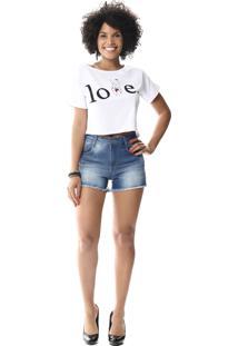 4abda51dd ... Short Jeans Sawary Boyfriend Azul