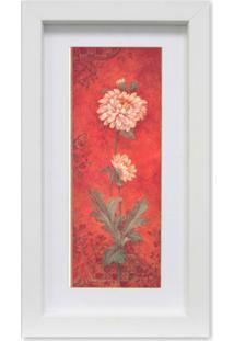 Quadro Floral I Kapos Branco 34X19Cm