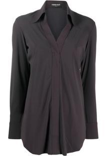 Le Petite Robe Di Chiara Boni Atena Regular-Fit Blouse - Marrom