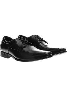 Sapato Social Democrata Cosmo Flex Stretch - Masculino-Preto
