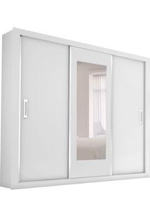 Guarda-Roupa Casal Com Espelho Bahia Flex Color 3Pt 4Gv Branco E Preto