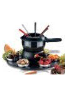 Conjunto 17 Peças Aparelho Para Fazer Fondue Gourmet Brinox