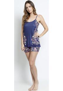 4d69a46999 ... Short Doll Floral- Azul Marinho   Rosadaniela Tombini