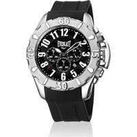 7e7bdda376a Relógio De Pulso Everlast Cx Aço Pulseira Silicone Analógico - Masculino- Preto