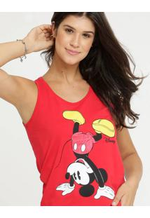 Blusa Feminina Estampa Mickey Sem Mangas Disney