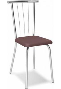 Cadeira Cromada Ávila Cacau