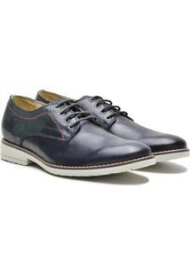 Sapato Couro Casual Sartre Masculino - Masculino-Preto