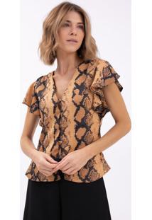 9c38b87c1410 R$ 119,90. Lojas Renner Blusa Animal Print Cobra ...