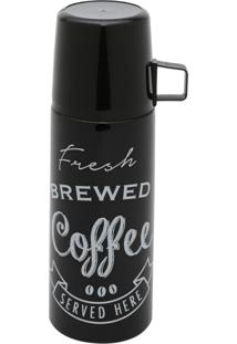 Garrafa Térmica De Inox Com Tampa De Plástico Expresso Brewed Coffee 7,5X7,5X22Cm 350Ml Urban