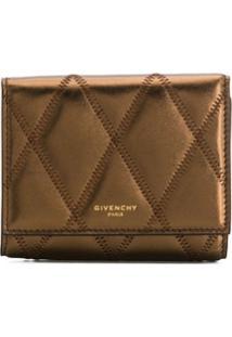 Givenchy Carteira Matelassê Metálica Com Padronagem De Losangos - Dourado