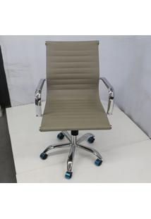 Cadeira Office Outlet Estofada Baixa Fendi Cromada - 10 - Sun House