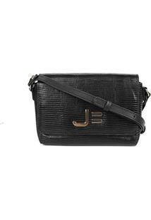Bolsa Couro Jorge Bischoff Snake Mini Bag Feminina - Feminino-Preto