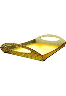 Bandeja Com Alças Trama - Amarelo - Multistock