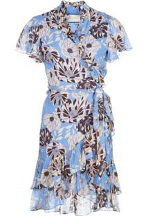 Alexis Vestido Envelope Melyssa Com Estampa Floral - Azul