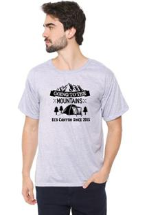 Camiseta Masculina Eco Canyon Going Cinza
