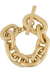 Paco Rabanne Oversized T-Bar Bracelet - Dourado