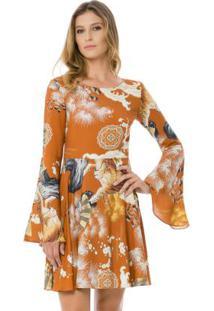 Vestido Tecido Rayon Bali Tigre