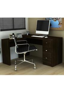 Escrivaninha De Canto Reversível Home Office Tabaco Tecno Mobili