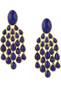 Aurelie Bidermann Par De Brincos Lapis Lazuli - Metálico