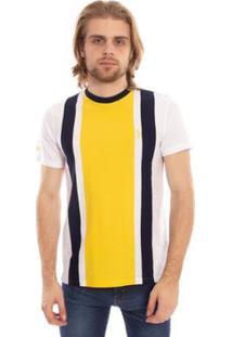 Camiseta Aleatory Listrada Farry Masculina - Masculino-Amarelo