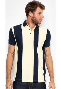 Camisa Polo Aleatory Malha Fio Tinto Vertical Masculina - Masculino