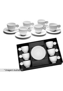 Jogo De Xícaras Para Café Em Porcelana- Branco- 6Pçswolff