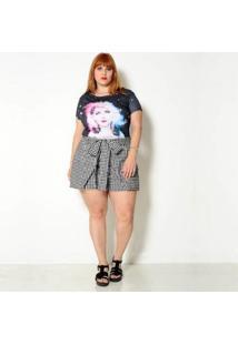 Camiseta Vintage And Cats Plus Size Blondie - Feminino-Preto