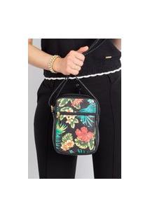 Bolsa Shoulder Bag De Couro Pietra - Multicolorido