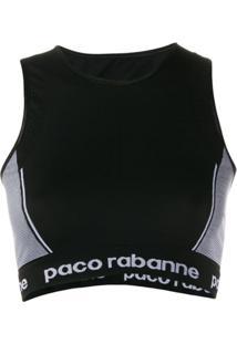 Paco Rabanne Blusa Com Recorte Contrastante - Preto