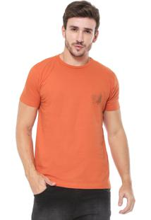 Camiseta Richards Aquarela Tropical Laranja