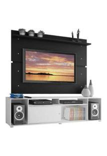 Rack Madesa Cancun E Painel Para Tv Até 65 Polegadas Branco/Preto