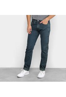 Calça Jeans Slim Dubai Basic Masculina - Masculino-Azul Escuro