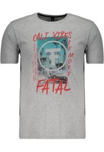 Camiseta Fatal Cali Vibes Estampada Masculina - Masculino-Cinza