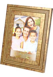 Porta Retrato Strass 13X18 - Woodart - Marrom