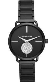 Relógio Michael Kors Essential Portia Feminino - Feminino-Preto