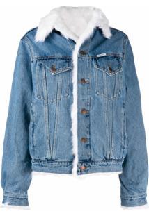 Forte Dei Marmi Couture Jaqueta Jeans Com Pelos - Azul