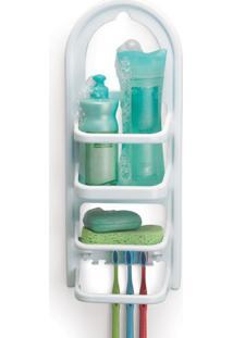 Prateleira Suporte De Banheiro Porta Shampoo 9,2X17X39,6Cm - Transparente - Dafiti