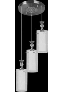 Lustre Multi Design Td 292/3 - 3 Lâmpadas Taschibra Branco