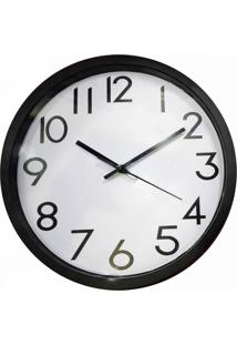 Relógio De Parede De Plástico Preto E Branco