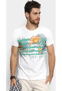 Camiseta Colcci Tropical Floral Masculina - Masculino