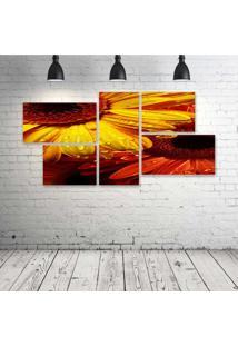 Quadro Decorativo - Flower249 - Composto De 5 Quadros - Multicolorido - Dafiti