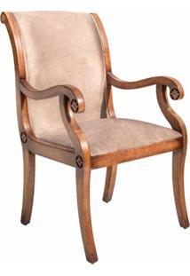 Cadeira Nicolau Com Braço Madeira Maciça Design Clássico Avi Móveis