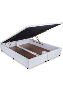 Cama Box Baú Orthocrin Couríno White Queen 158
