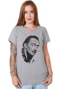 Camiseta Salvador Dali Collage Cinza Stoned