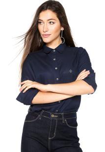 Camisa Dudalina Slim Azul