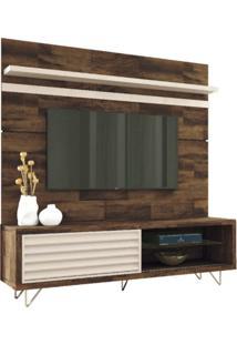 Bancada Hb Móveis E Painel Para Tv Até 70 Polegadas Venezza Deck/Off White
