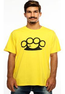 Camiseta Hardivision Half Pipe Manga Curta - Masculino-Amarelo